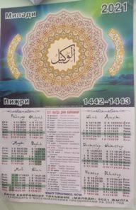 Месяцы исламского календаря